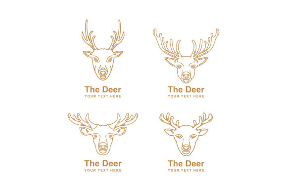 Print on Demand: Mono Line of Animal Head Graphic Graphic Templates By sabavector