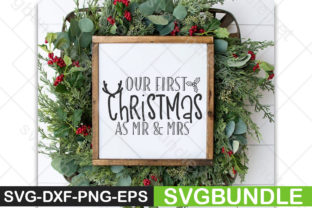 Print on Demand: Our 1st Christmas As Mr. and Mrs. Graphic Print Templates By Designartstore