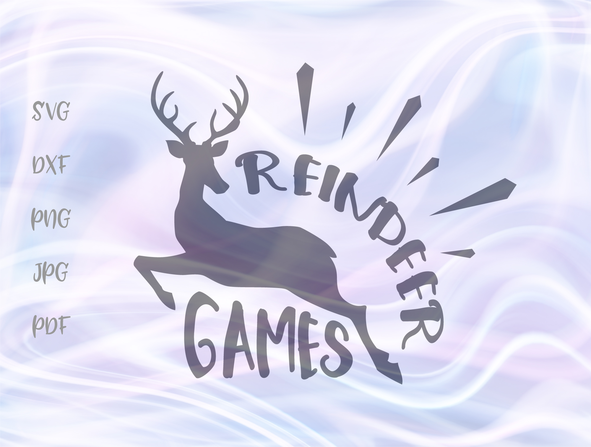 Download Free Reindeer Games Christmas Graphic By Digitals By Hanna Creative for Cricut Explore, Silhouette and other cutting machines.