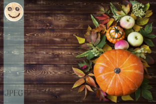 Rustic Fall Decor with Pumpkin Graphic By TasiPas