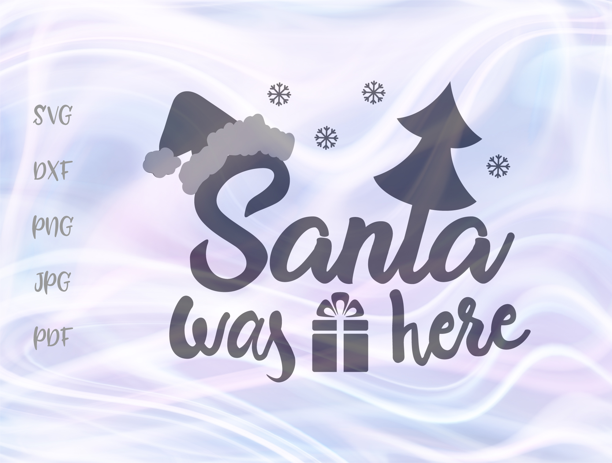 Download Free Santa Was Here Merry Christmas Graphic By Digitals By Hanna for Cricut Explore, Silhouette and other cutting machines.