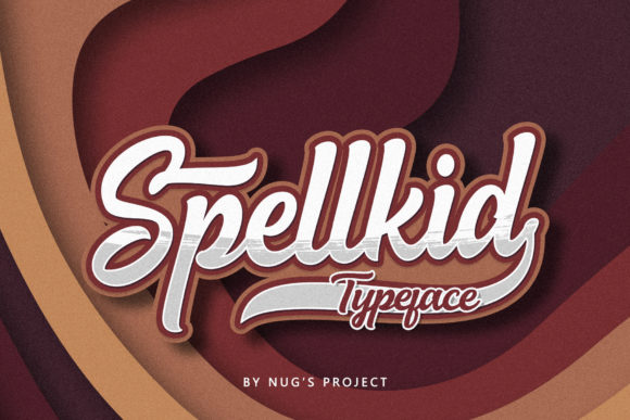 Print on Demand: Spellkid Script & Handwritten Font By Andrie Nugrie
