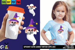 Spooky Cute Witch Ghost Graphic By AMBillustrations