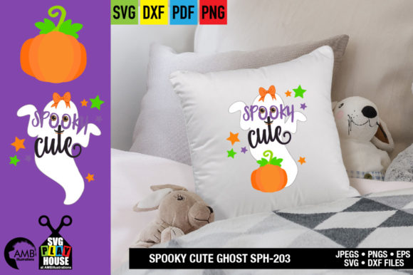 Spooky Halloween Ghost Graphic Crafts By AMBillustrations - Image 3