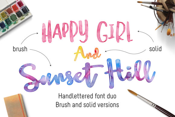 Print on Demand: Sunset Hill Duo Script & Handwritten Font By joanne.hewitt