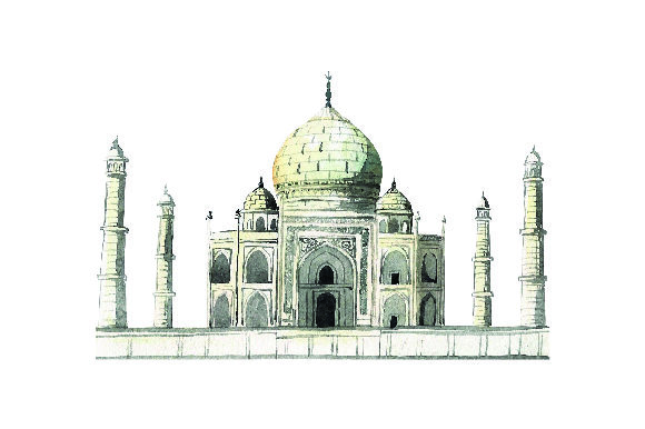 Taj Mahal - Watercolor Style Travel Craft Cut File By Creative Fabrica Crafts