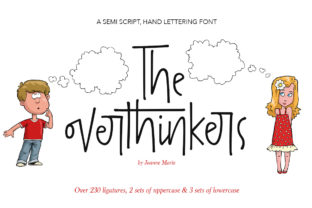 The Overthinkers Font By joanne.hewitt