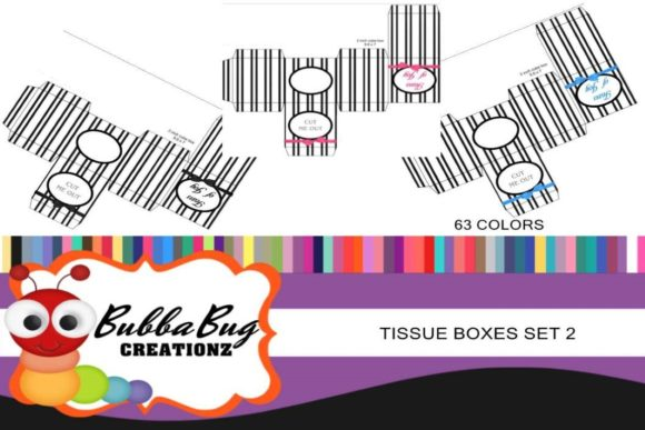 Tissue Box Set 2 Graphic Crafts By BUBBABUG