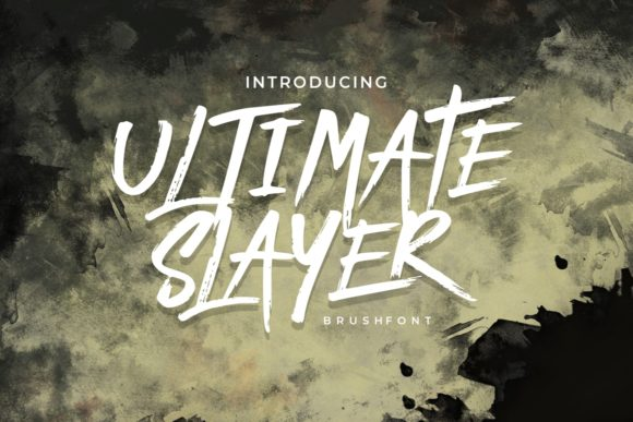 Ultimate Slayer Display Font By putracetol