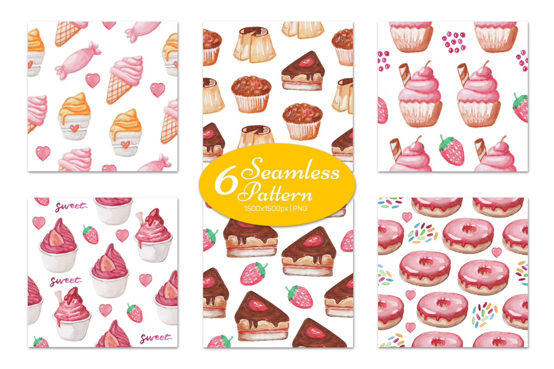 Download Free Watercolor Sweet Food Graphic By Vitaminrgb Creative Fabrica for Cricut Explore, Silhouette and other cutting machines.