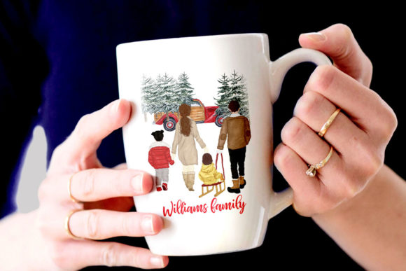 Winter Family Christmas Car Clipart Graphic Illustrations By LeCoqDesign - Image 6
