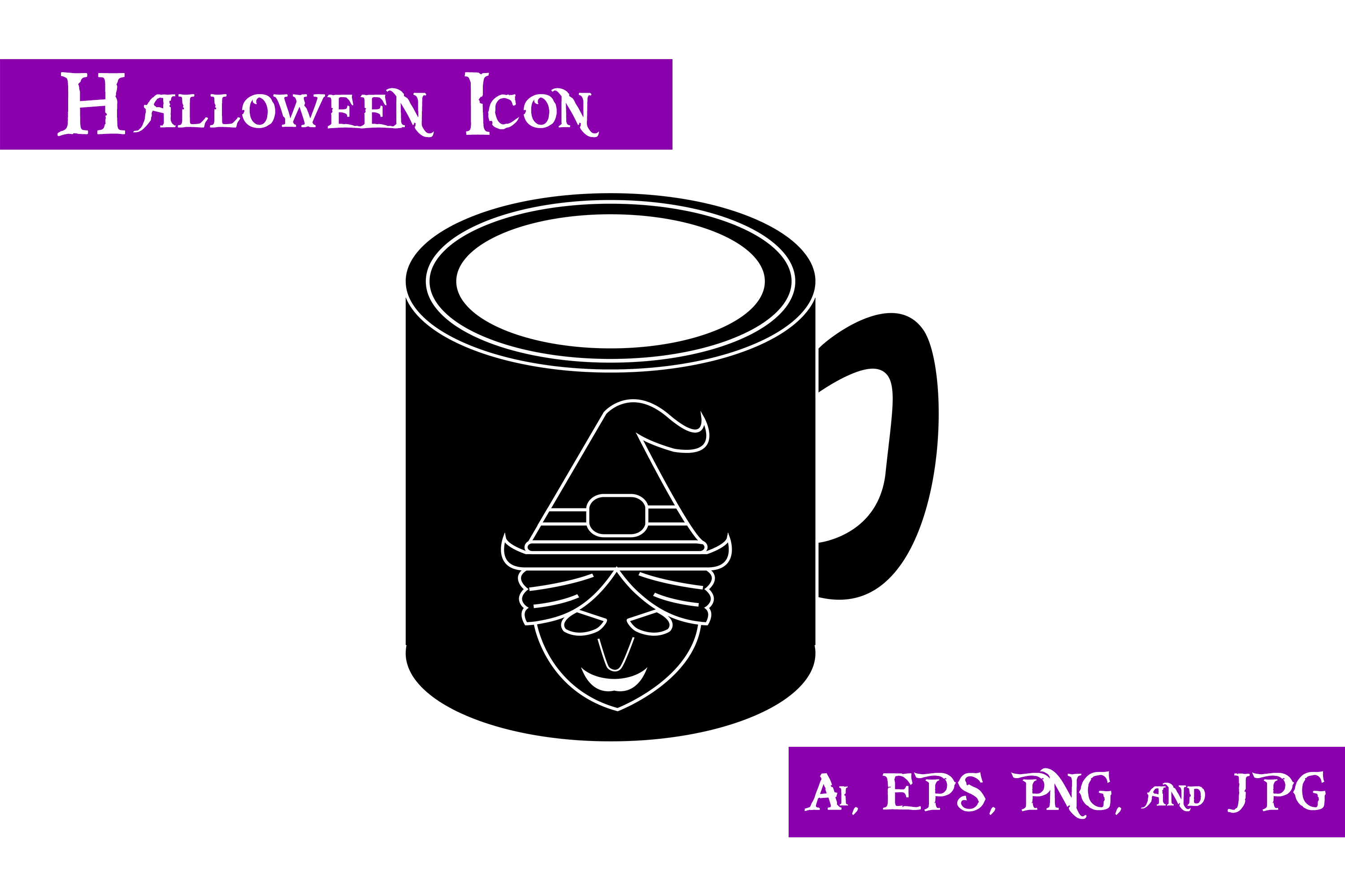 Download Free Witch Glass Halloween Icon Graphic By Purplespoonpirates for Cricut Explore, Silhouette and other cutting machines.