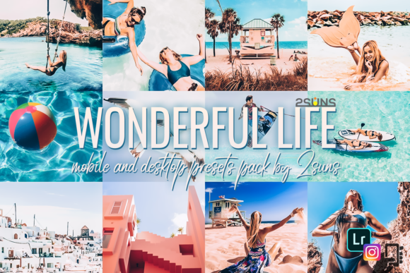 Download Free Wonderful Bundle Light Instagram Presets Graphic By 2suns for Cricut Explore, Silhouette and other cutting machines.