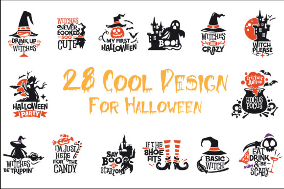 28 Cool Design for Halloween Graphic Crafts By Skull and Rose