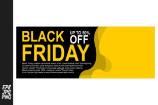 Download Free Black Friday Banner Template Graphic By Arief Sapta Adjie Ii for Cricut Explore, Silhouette and other cutting machines.