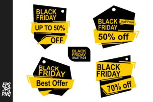 Black Friday Tags - Lable Bundle Graphic By Arief Sapta Adjie