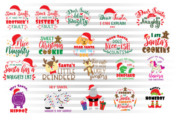 Christmas Svg Bundle for Kids Graphic By Illustrator Guru