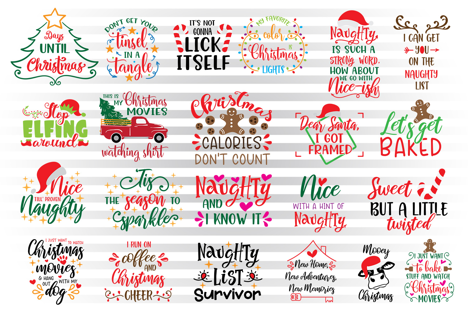 Download Free Christmas Bundle For Kids Graphic By Illustrator Guru Creative for Cricut Explore, Silhouette and other cutting machines.