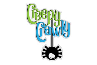 Creepy Crawly Title & Cute Spider Graphic By Robin Morris