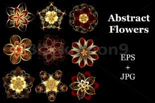 Jewelry Abstract Flowers Graphic By Blackmoon9
