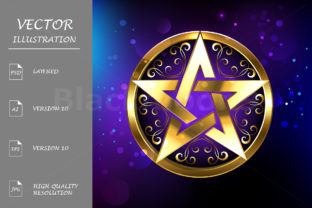 Magic Gold Star Graphic By Blackmoon9