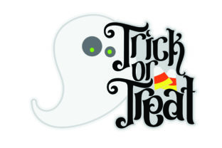 Trick or Treat Title Graphic By Robin Morris