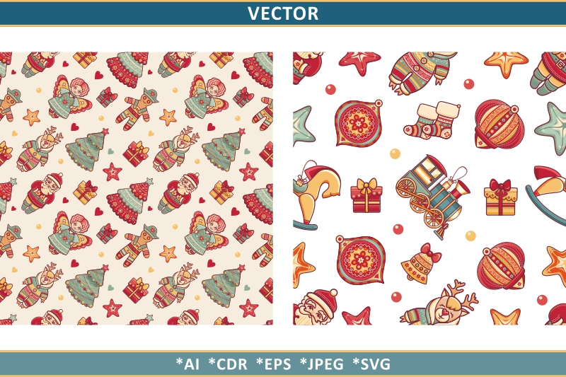 Download Free Christmas Clipart Christmas Seamless Grafico Por Zoyali for Cricut Explore, Silhouette and other cutting machines.