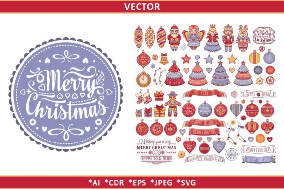 Download Free Christmas Clipart And Seamless Pattern Graphic By Zoyali for Cricut Explore, Silhouette and other cutting machines.