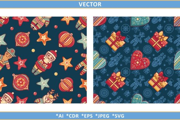Download Free Christmas Seamless Pattern Graphic By Zoyali Creative Fabrica for Cricut Explore, Silhouette and other cutting machines.