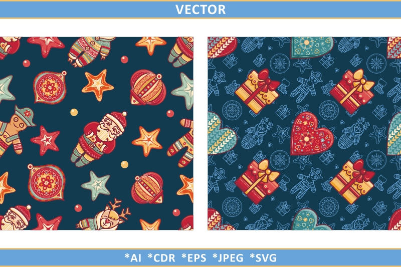 Download Free Christmas Seamless Pattern Graphic By Zoyali Creative Fabrica SVG Cut Files