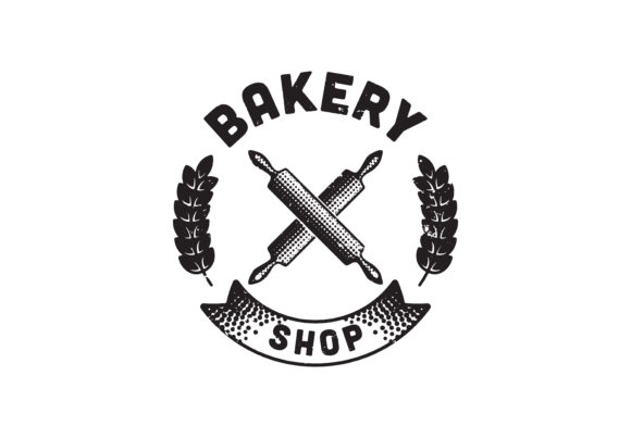 Download Free Vintage Retro Bakery Logo Badges And Lab Graphic By for Cricut Explore, Silhouette and other cutting machines.