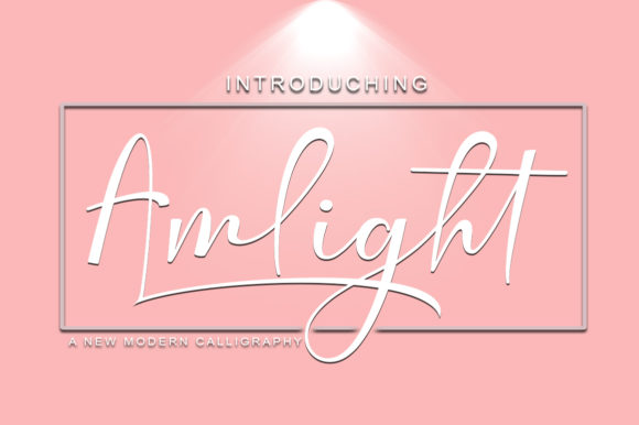 Print on Demand: Amlight Script & Handwritten Font By StudioRz - Image 1