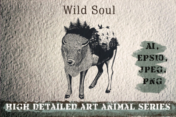 Download Free Animal Series Wild Soul Graphic By Fleurartmariia Creative for Cricut Explore, Silhouette and other cutting machines.