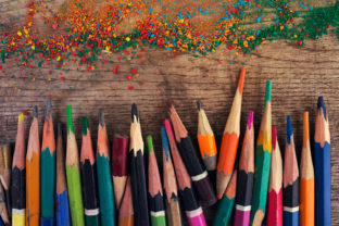 Artistic Colorful Accorted Old Pencils Graphic By fleurartmariia