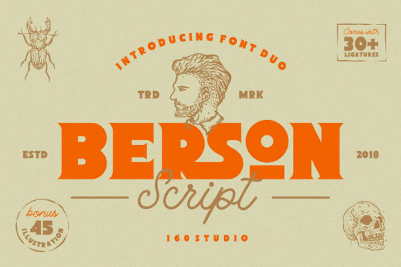 Print on Demand: Berson Display Font By 160 Studio