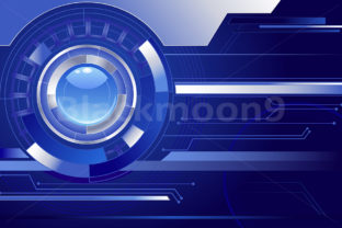 Blue Background with a Blue Lens Graphic By Blackmoon9