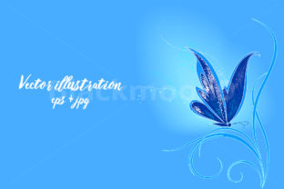 Blue Butterfly Graphic By Blackmoon9