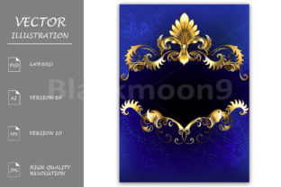 Blue Luxury Banner Graphic By Blackmoon9