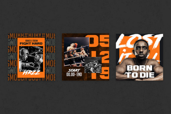 Boxing Instagram Templates Graphic Textures By qohhaarqhaz