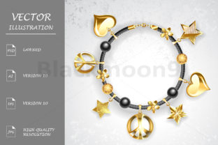 Bracelet with Symbols Graphic By Blackmoon9