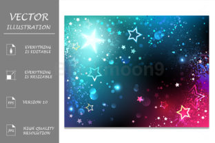 Bright Background with Stars Graphic By Blackmoon9