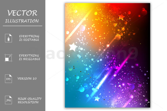 Bright Rainbow Background Graphic Backgrounds By Blackmoon9