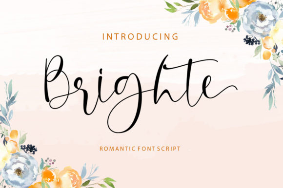 Print on Demand: Brighte Script & Handwritten Font By Shape Studio