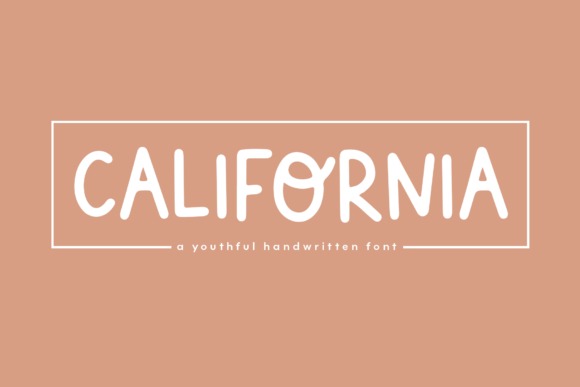 Print on Demand: California Display Fuente Por KA Designs
