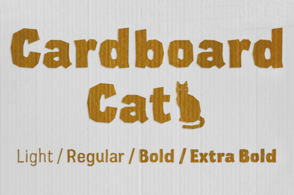Print on Demand: Cardboard Display Font By Studio Dot by dot