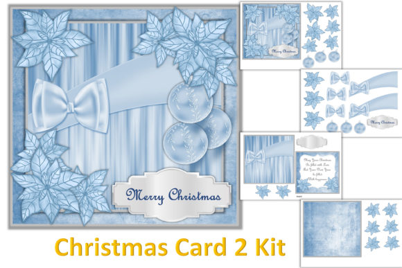 Download Free Christmas Card Making Kit Graphic By The Paper Princess for Cricut Explore, Silhouette and other cutting machines.