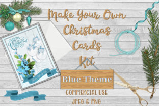 Christmas Card Making Kit Free Clipart Graphic By The Paper Princess