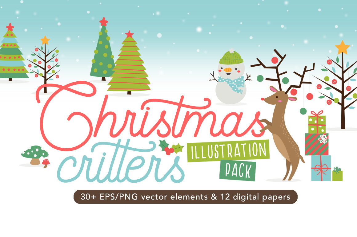 Download Free Christmas Critters Pack Graphic By Reg Silva Art Shop Creative for Cricut Explore, Silhouette and other cutting machines.