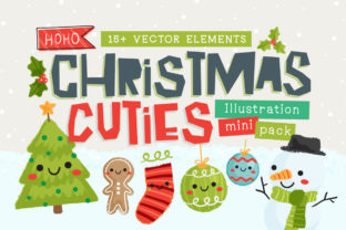 Christmas Cuties Illustration Mini-Pack Graphic By Reg Silva Art Shop