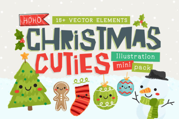 Print on Demand: Christmas Cuties Illustration Mini-Pack Graphic Illustrations By Reg Silva Art Shop